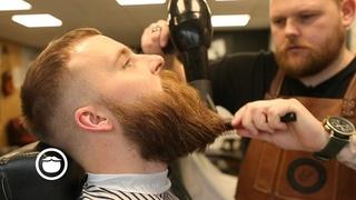 Viking Style Beard Trim with Choppy Top Haircut