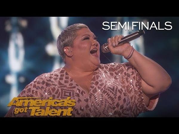 Christina Wells: Powerhouse Singer Performs A Natural Woman - America's Got Talent 2018