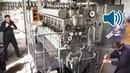 Запуск двигателя от немецкой субмарины Второй мировой войны