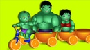 Hulk Finger Family Riding Orange Toy Car Finger Family 💗 Nursery Rhymes