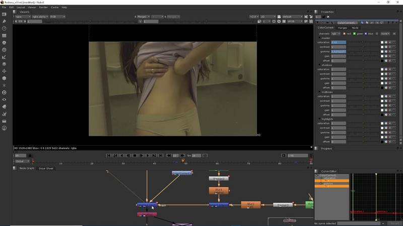 Nuke - Redness on skin removal using Transform offset and subtle color correction - Clikfoot