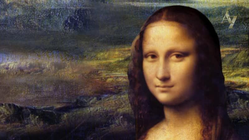 Леонардо да Винчи Джоконда морфинг и 3D анимация картины
