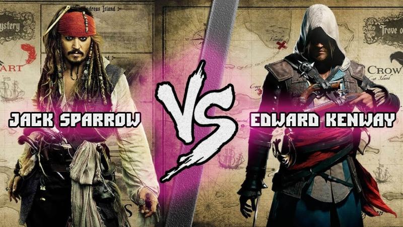 [Кто Кого? LIVE-канал] Джек Воробей (Пираты Карибского Моря) vs Эдвард Кенуэй (Assassins Creed) Кто кого? [bezdarno]