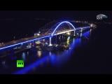 Полная иллюминация: на Крымском мосту протестировали подсветку