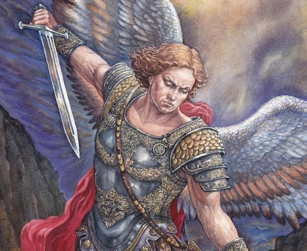 Разница между ангелом и архангелом Бесчисленное небесное воинство называется общим именем Ангелы. Буквально это понятие означает «вестник». Согласно Дионисиевой иерархии, существует девять