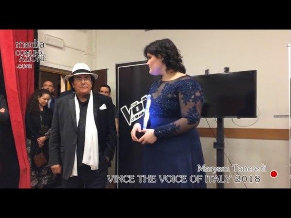 Maryam Tancredi vince The Voice Of Italy - L'incontro con la Stampa