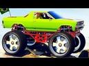 Смотреть Мультики для Детей 3 - 5 лет про Большие Машинки Гонки Прыжки на ТРАМПЛИНЕ Цветные Тачки