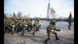 Выступление ангольских военных на Соборной площади Омска