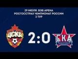 цска ска хабаровск 2 - 0, вэб арена, РФПЛ 2017 - 2018, 3 тур; первое армейское дерби