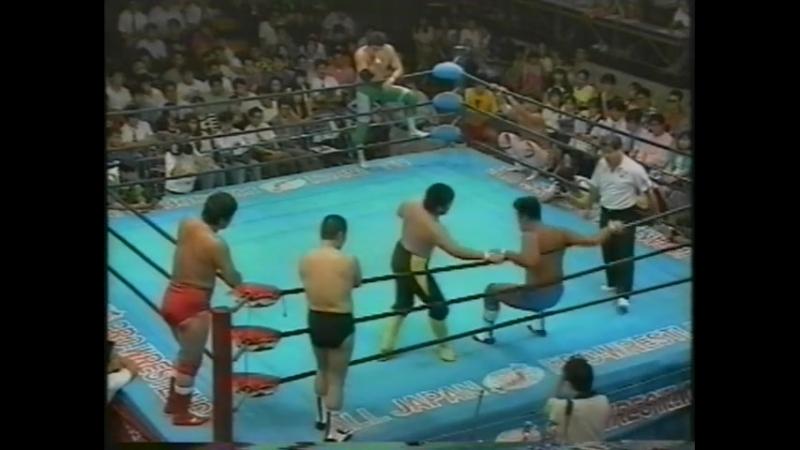 1993.08.20 - Akira Taue/Masanobu Fuchi/Toshiaki Kawada vs. Jun Akiyama/Mitsuharu Misawa/Tsuyoshi Kikuchi