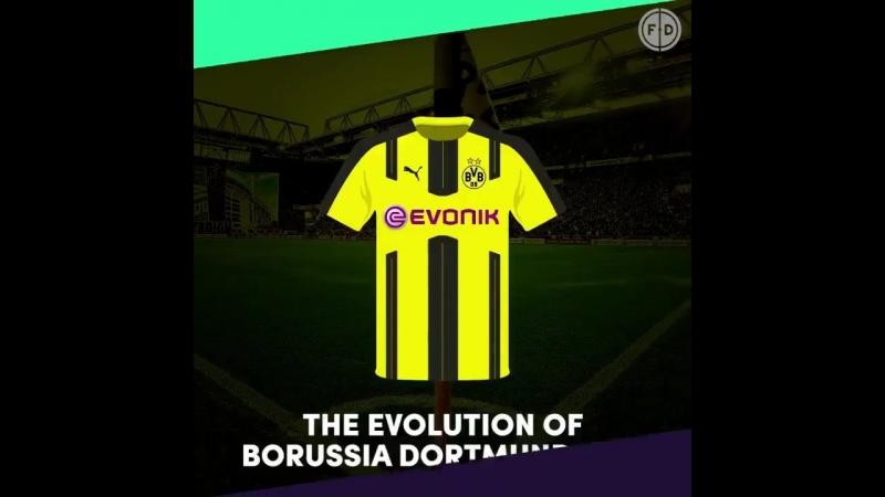 Эволюция формы дортмундской «Боруссии»