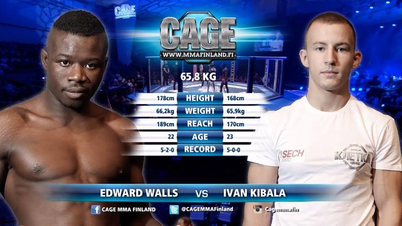 CAGE44Edward Walls vs Ivan Kibala Full Fight MMA