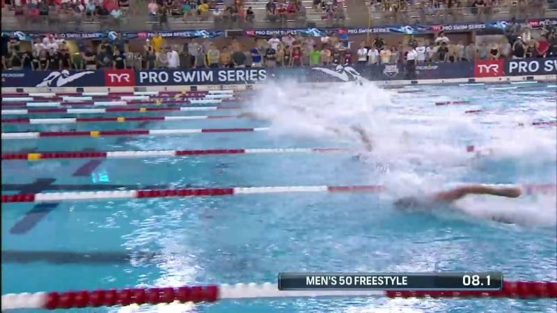 Men's 50m Free A Final _ 2018 TYR Pro Swim Series - Columbus
