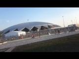 Фанаты уходят со стадиона. Матч Россия-Уругвай в Самаре