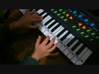 Первые успехи Мироси в освоении пианино