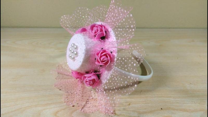Crown Hair Decoration, Bridesmaid Crown, Şapkalı Taç Süsleme , Kına Gecesi