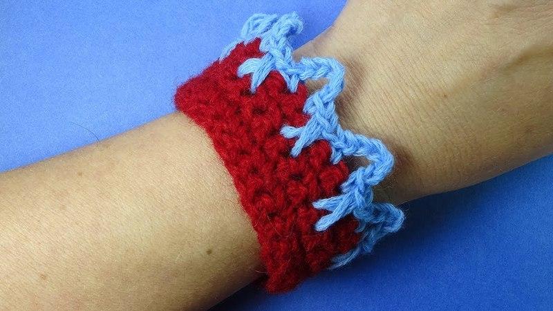 Простая кайма крючком для начинающих Урок вязания крючком Crochet pattern 373