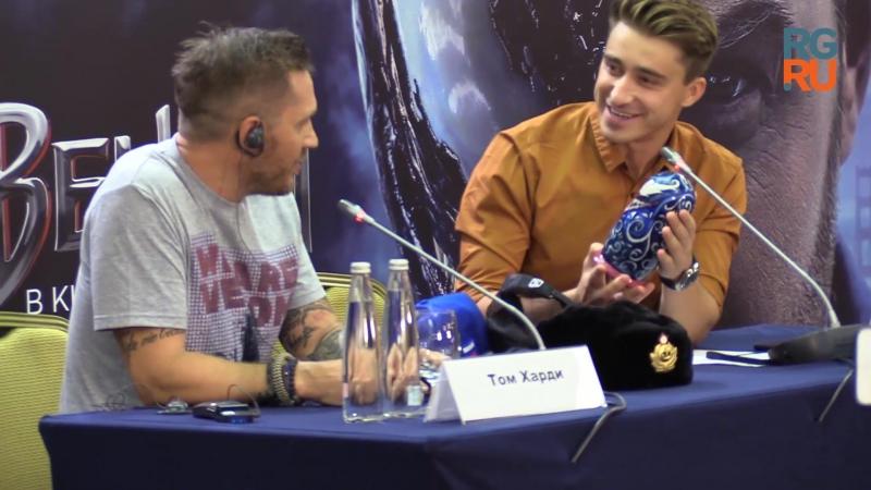 Том Харди представил в Москве фильм Веном