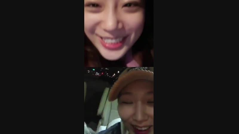 181114 Видео инстаграм Хо Ёнджи(허영지) и в конце присоединяется Giantpink (자이언트핑크)