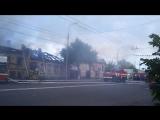 В Оренбурге на улице Цвиллинга горели два дома – жилой и нежилой