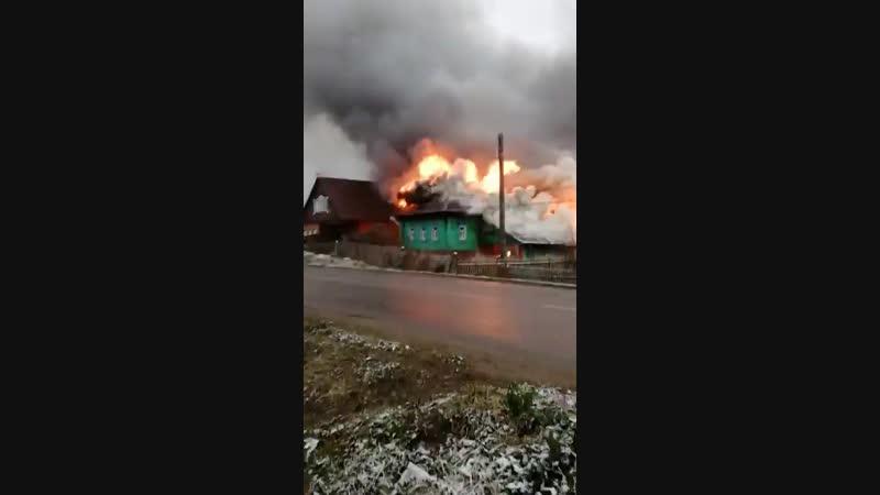 Пожар в частном доме в Старой Вичуге на Кооперативной улице