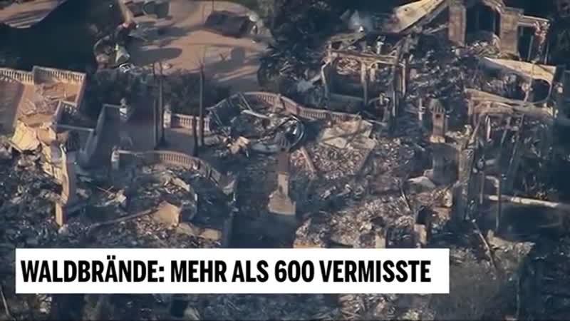 Waldbrände- Mehr als 600 Vermisste