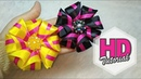 DIY Cara Membuat Bros Tutorial Simple Kanzashi Flower Satin Ribbon Flower HD Tutorial