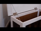 Скамейка с отсеком для хранения из старых досок и остатков ламината от Eamon Walsh DIY