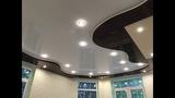 Финал Гостиная Шикарный натяжной потолок