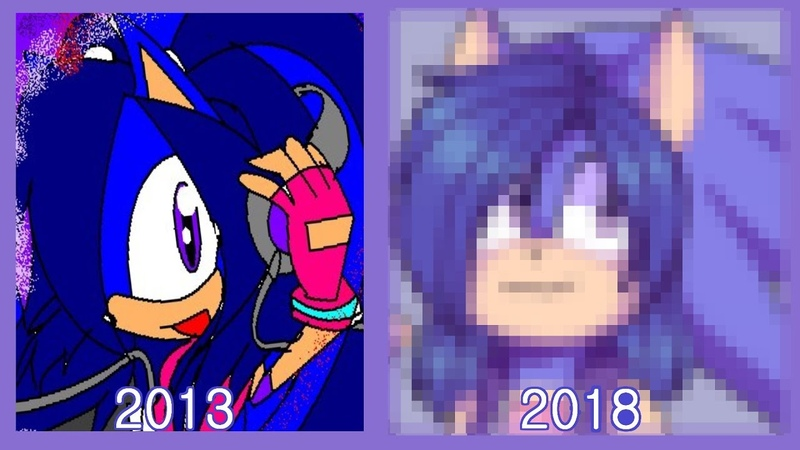 Redrawing old character