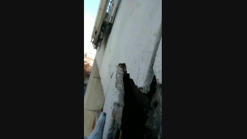 удаление аварийного фасада