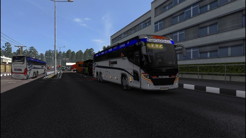 Ets2 mods Scania touring S.E.T.C skin grey 2019 and 3d Design for 1.32 to 1.34.xx