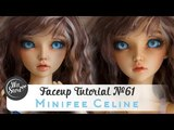 Faceup Tutorial №61 Fairyland Minifee Celine Custom BJD doll repaint by WillStore