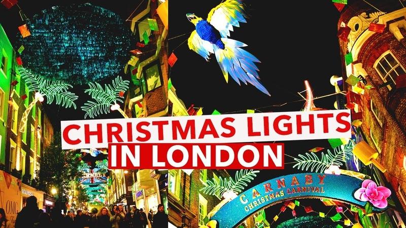 Christmas Lights in London Oxford Street Carnaby Street Bond Street 2017 London Vlog 8