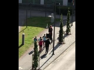 Спортивно-музыкальное утро в Гётеборге
