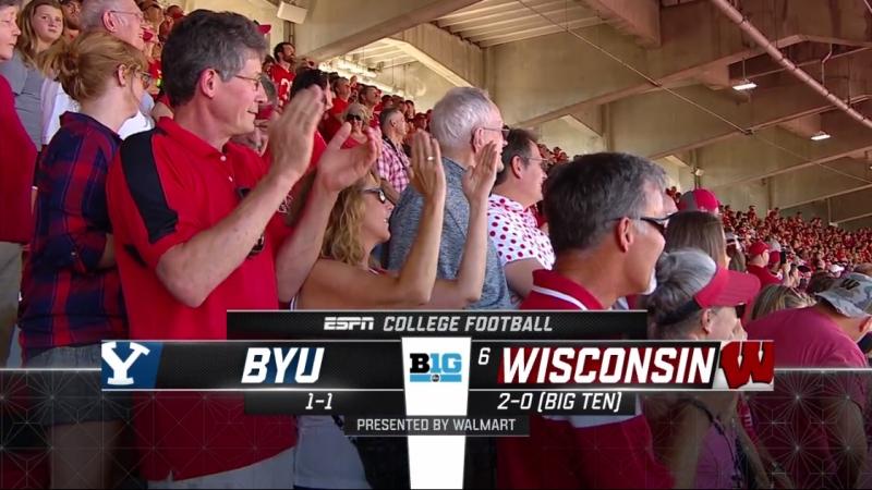 NCAAF 2018 Week 03 BYU Cougars - (6) Wisconsin Badgers 2Н EN
