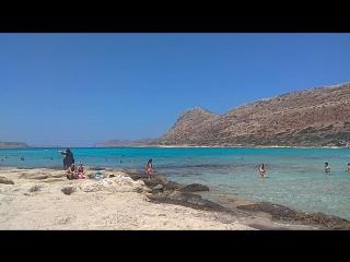 Остров Балос. Здесь сливаются три моря. Я в них купался. Ливийское, Критское, Ионическое.