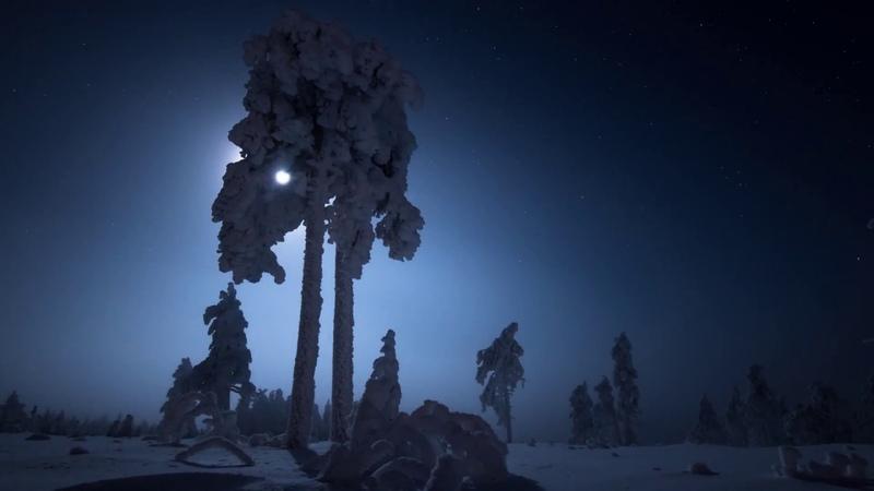 Зима в Финляндии 4К Таймлапс