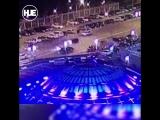 Момент аварии на Новом Арбате попал на видео