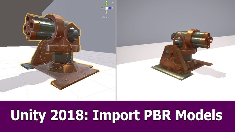 Unity 2018 : Import animated PBR model