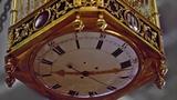 Часы-клетка с певчей танагрой