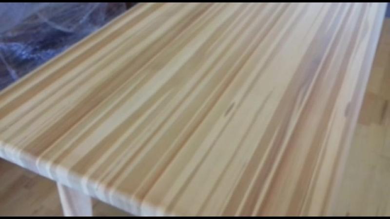 Оригинальный Стол из Лиственницы массив склейка