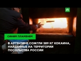В Аргентине сожгли найденный в посольстве России кокаин
