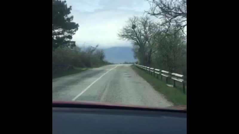 Дорога из Коктебеля в утес по юбк