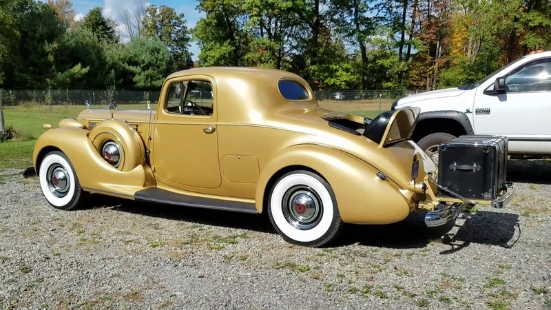 Scott's 1938 Packard 12 Gentleman's Coupe.