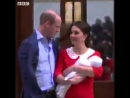The Duke and Duchess of Cambridge introduce their new son to the world, just hours after h