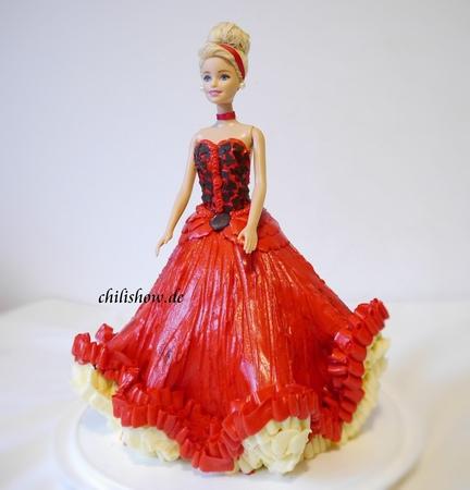 (vk.com/lakomkavk) cách pha màu đỏ cho kem bơ và trang trí bánh kem công chúa