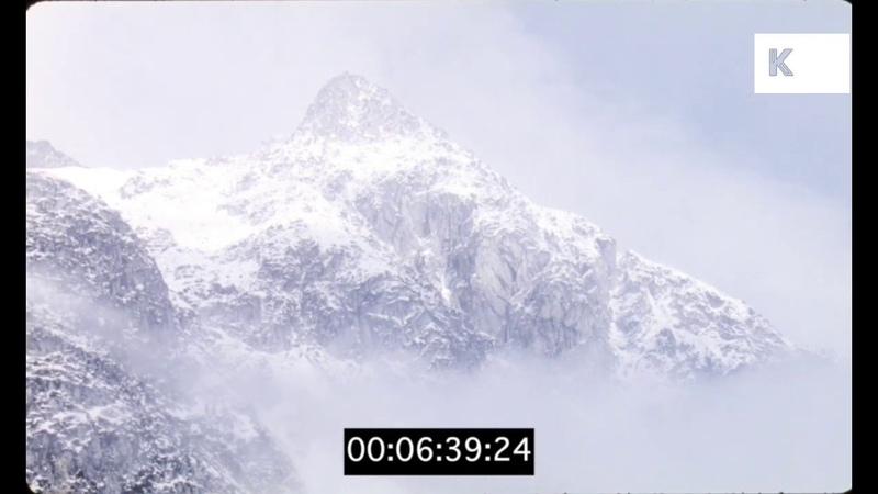 Snowy Mountain Range, Himalayas, Karakoram, 1990s, 35mm