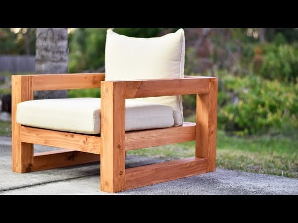 DIY Modern Outdoor Chair YouTube