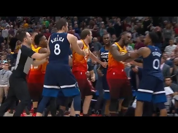 Jeff Teague Hard Foul On Ricky Rubio Ejected From The Game Timberwolves vs Jazz